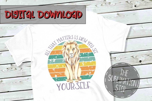 lion sublimation design with distressed circle background