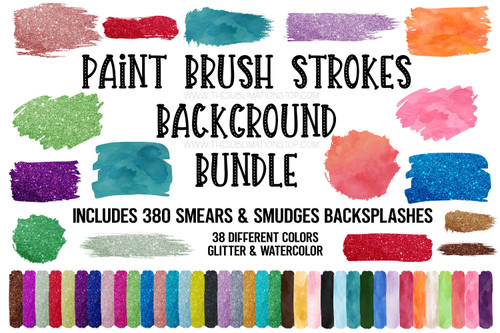paint brush stroke background bundle sublimation design elements digital designer license