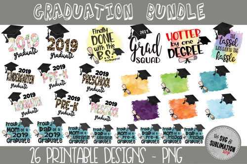 2019 Graduation Sublimation designs for tshirts