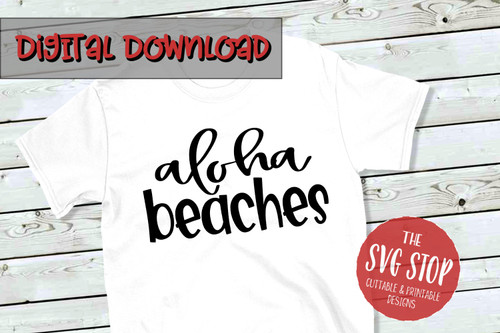 aloha beaches svg cut files