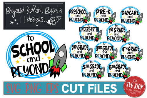 Back To School and beyond bundle cut files svg png eps rocket space  tshirt design