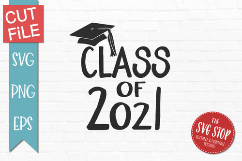 class of 2021 graduation svg clipart cut file sublimation print