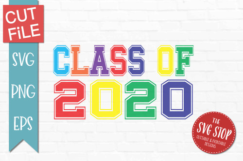 class of 2020 graduation svg clipart cut file sublimation print