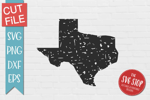 distressed grunge Texas state silhouette Cricut sublimation printing