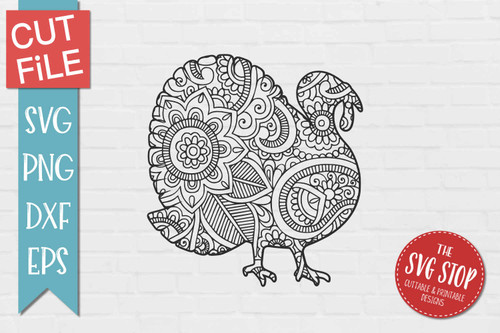 zentangle turkey silhouette Cricut sublimation printing
