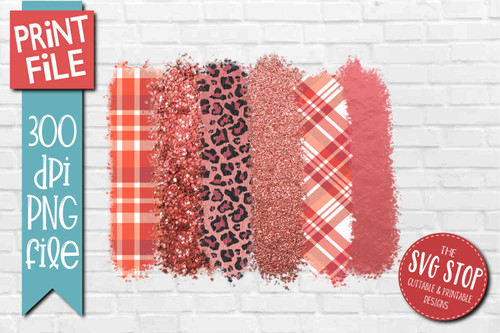 Pink mixed patterns paint brush strokes stripes digital background paper for sublimation printing designs