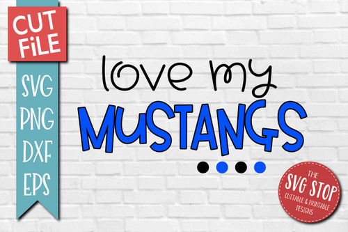 Mustangs mascot svg cut file silhouette Cricut sublimation printing