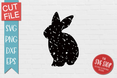 Bunny Distressed Grunge Style svg cut file clipart sublimation design