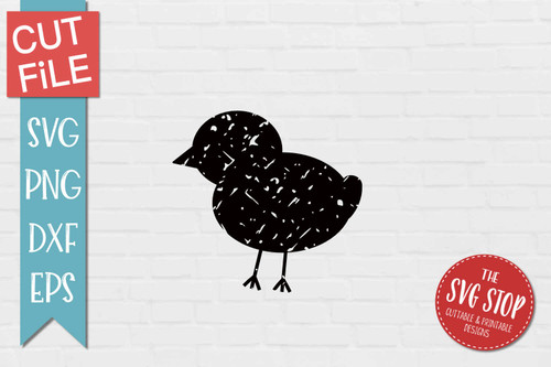 Chick Distressed Grunge Style svg cut file clipart sublimation design