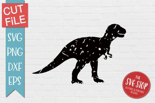 Trex Dinosaur Distressed Grunge Style svg cut file clipart sublimation design