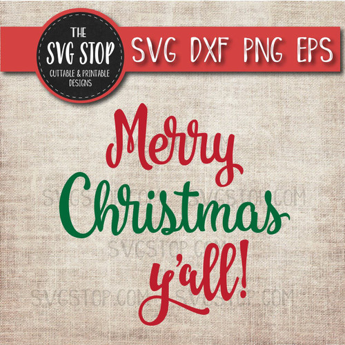 merry christmas yall clipart cut file svg sublimation design