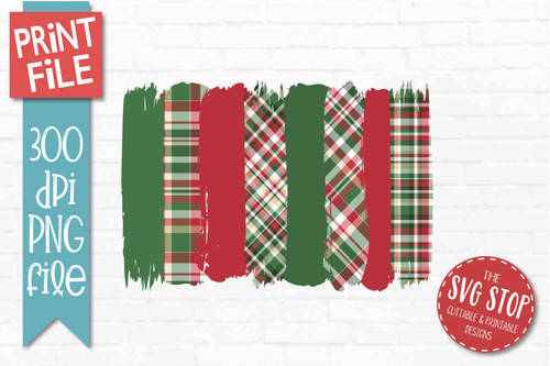 Christmas Plaid patterns paint brush strokes stripes digital background paper for sublimation printing designs