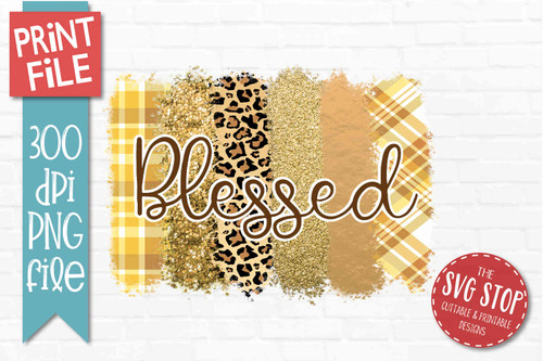 Blessed Fall Plaid patterns paint brush strokes stripes digital background paper for sublimation printing designs