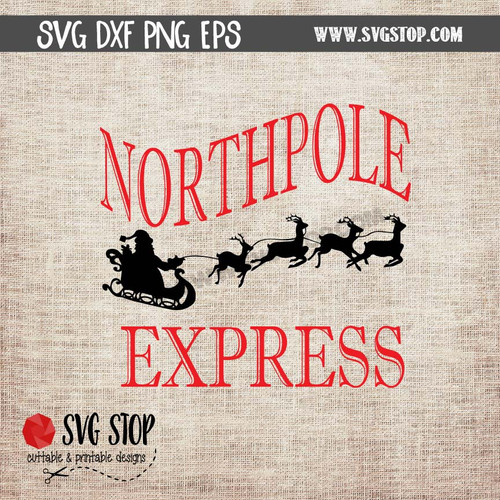 Northpole Express Design The Svg Stop
