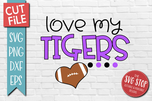 Tigers football mascot svg cut file silhouette Cricut sublimation printing