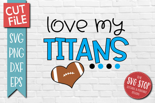 Titans football mascot svg cut file silhouette Cricut sublimation printing