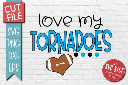 Tornadoes football mascot svg cut file silhouette Cricut sublimation printing