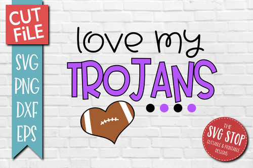 Trojans football mascot svg cut file silhouette Cricut sublimation printing