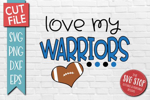 Warriors football mascot svg cut file silhouette Cricut sublimation printing