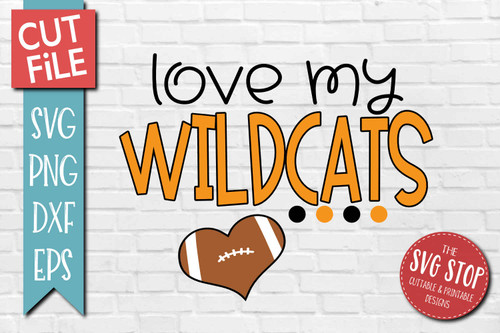 Wildcats football mascot svg cut file silhouette Cricut sublimation printing