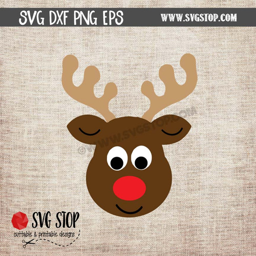 Reindeer With Christmas Lights Design The Svg Stop