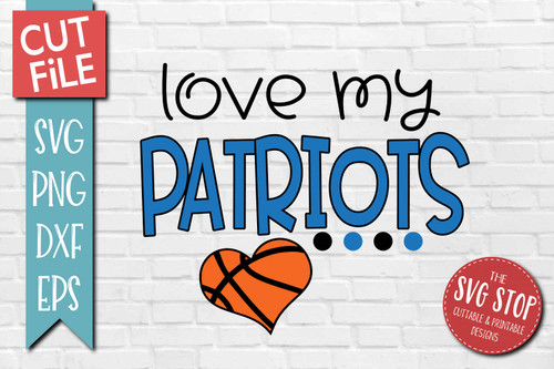 Patriots basketball mascot svg cut file silhouette Cricut sublimation printing