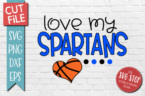 Spartans basketball mascot svg cut file silhouette Cricut sublimation printing