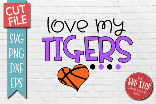 Tigers basketball mascot svg cut file silhouette Cricut sublimation printing
