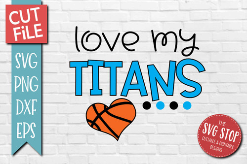 Titans basketball mascot svg cut file silhouette Cricut sublimation printing