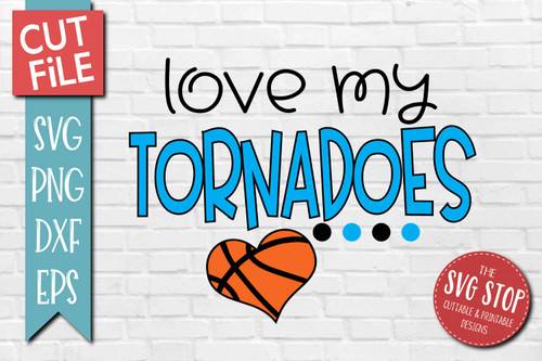 Tornadoes basketball mascot svg cut file silhouette Cricut sublimation printing