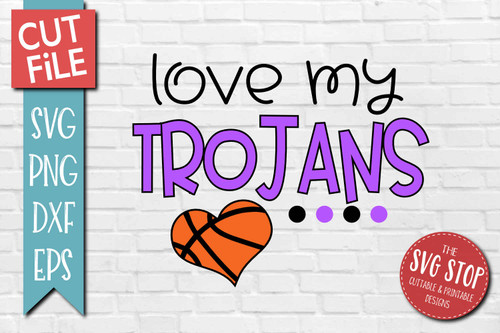 Trojans basketball mascot svg cut file silhouette Cricut sublimation printing