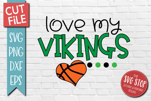Vikings basketball mascot svg cut file silhouette Cricut sublimation printing