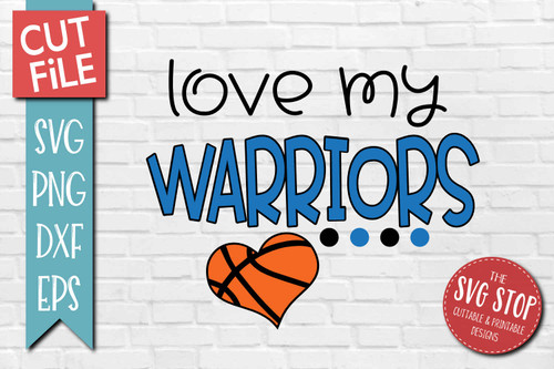 Warriors basketball mascot svg cut file silhouette Cricut sublimation printing