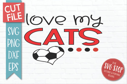Cats Soccer football mascot svg cut file silhouette Cricut sublimation printing