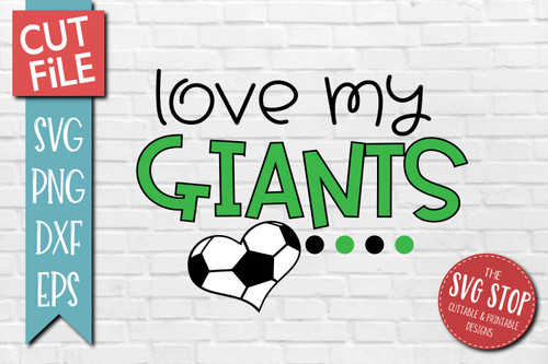 Giants Soccer football mascot svg cut file silhouette Cricut sublimation printing