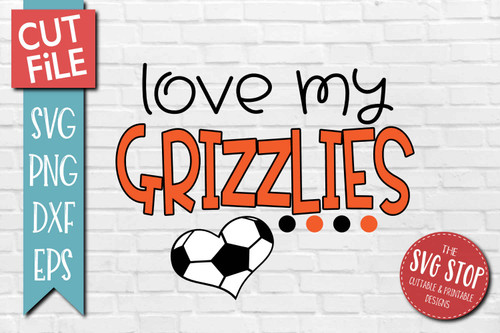 Grizzlies Soccer football mascot svg cut file silhouette Cricut sublimation printing