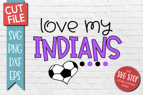 Indians Soccer football mascot svg cut file silhouette Cricut sublimation printing