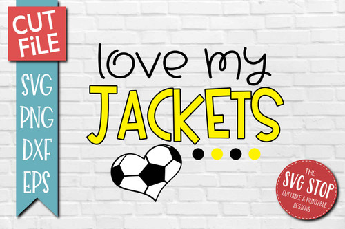 Jackets Soccer football mascot svg cut file silhouette Cricut sublimation printing