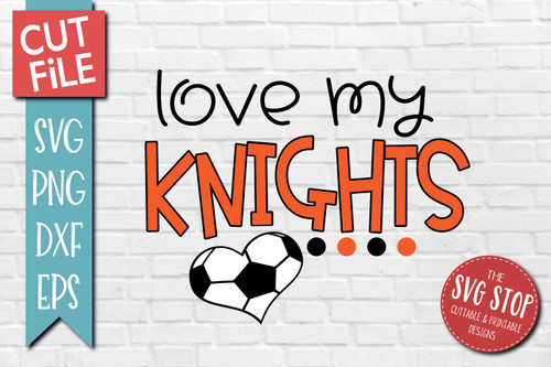 Knights Soccer football mascot svg cut file silhouette Cricut sublimation printing