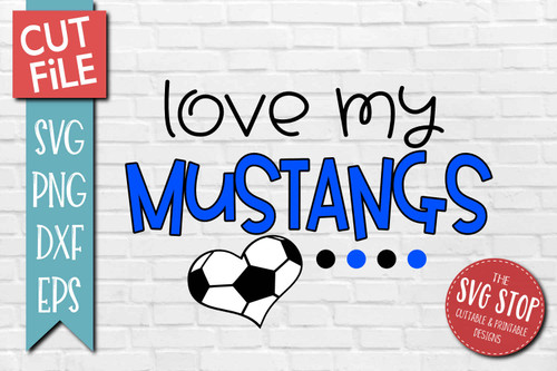 Mustangs Soccer football mascot svg cut file silhouette Cricut sublimation printing
