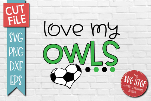 Owls  Soccer football mascot svg cut file silhouette Cricut sublimation printing