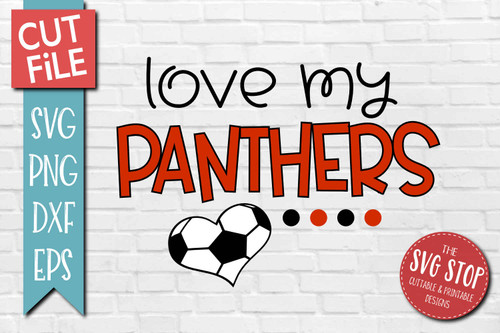 Panthers Soccer football mascot svg cut file silhouette Cricut sublimation printing
