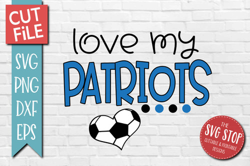 Patriots Soccer football mascot svg cut file silhouette Cricut sublimation printing