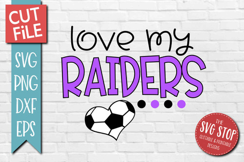 Raiders Soccer football mascot svg cut file silhouette Cricut sublimation printing