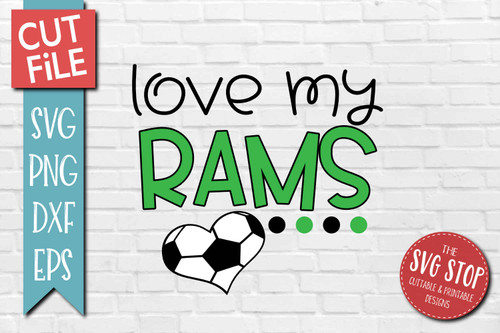 Rams Soccer football mascot svg cut file silhouette Cricut sublimation printing