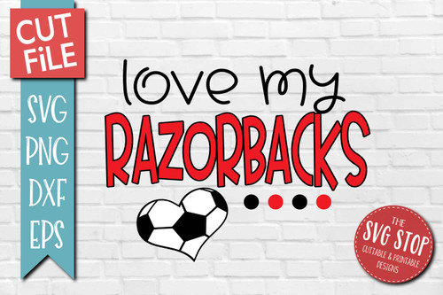 Razorbacks Soccer football mascot svg cut file silhouette Cricut sublimation printing