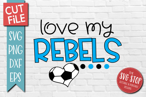 Rebels Soccer football mascot svg cut file silhouette Cricut sublimation printing