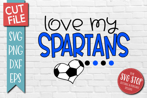 Spartans Soccer football mascot svg cut file silhouette Cricut sublimation printing