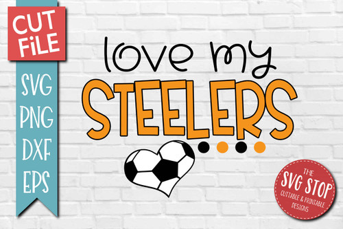 Steelers Soccer football mascot svg cut file silhouette Cricut sublimation printing