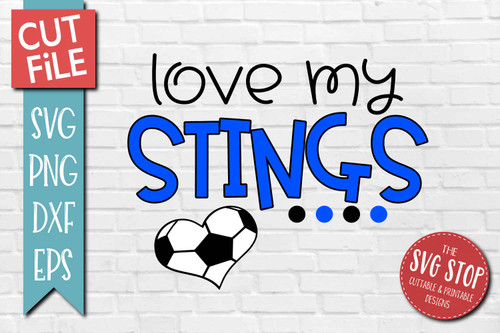 Stings Soccer football mascot svg cut file silhouette Cricut sublimation printing